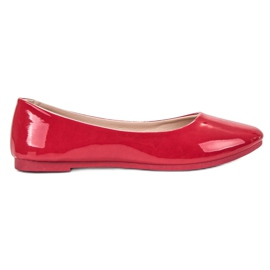 SHELOVET rosso Ballerina laccata