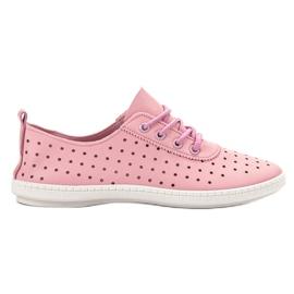 SHELOVET rosa Sneakers da donna Openwork