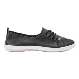 SHELOVET nero Sneakers con pelle ecologica