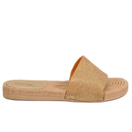 Giallo Pantofole da donna oro JFF-V182 Golden