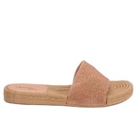 Pantofole da donna rosa JFF-V182 rosa