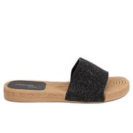 Nero Pantofole da donna nere JFF-V182 nere
