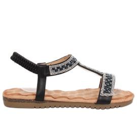 Sandali da donna neri HT-67 neri nero