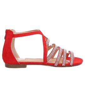 Sandali da donna rossi LL6339 Rosso
