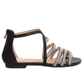 Sandali da donna neri LL6339 neri nero