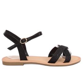 Sandali da donna neri e neri WL282 neri nero