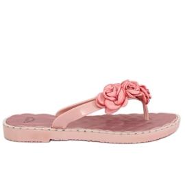 Infradito con fiori rosa YJL-1818 rosa
