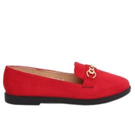 Mocassini da donna rossi 1631-123 rosso