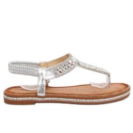 Sandali argento ZY163 argento grigio