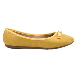 GUAPISSIMA Ballerina con broccato giallo