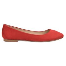 Small Swan rosso Ballerina in pelle scamosciata rossa