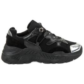 Small Swan nero Sneakers allacciate