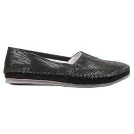 Filippo nero Slip sneakers in pelle nera