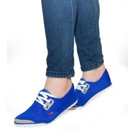 Sneakers stringate in Lycra CC8518 Blu