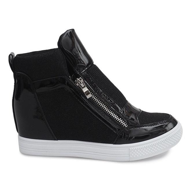 half off be266 e4492 Sneakers con zeppa TL020-2 NERO / BIANCO