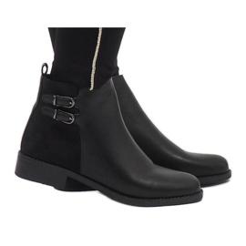 Ideal Shoes nero Eleganti stivali neri C-7200