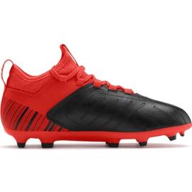 Scarpe da calcio Puma One 5.3 Fg Ag JR105657 01 rosso nero