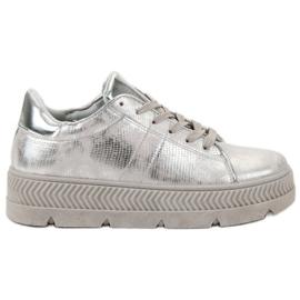 Bestelle grigio Scarpe sportive d'argento