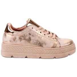 Bestelle Scarpe sportive in oro rosa