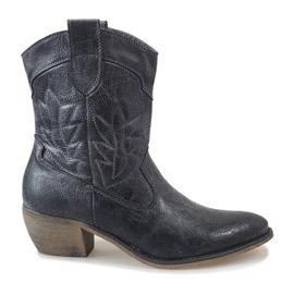 Stivali da cowboy blu 10601-1