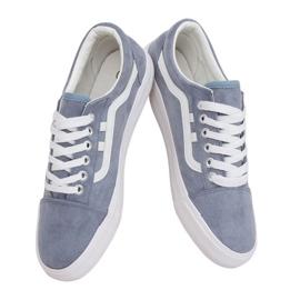 Sneakers da donna blu B70A BLU / BIANCO