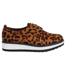 Mocassini da donna leopardo C-7225 stampa leopardo marrone
