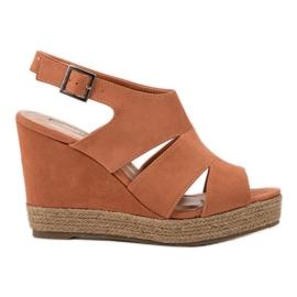Best Shoes arancione Sandali espadrillas arancioni