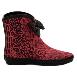 Kylie wellingtons rosso