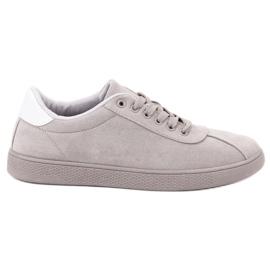 Ideal Shoes Calzature di pizzo grigio