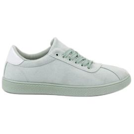 Ideal Shoes Scarpe stringate alla menta verde