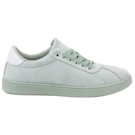 Ideal Shoes verde Scarpe stringate alla menta