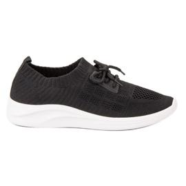 Ideal Shoes nero Scarpe sportive tessili