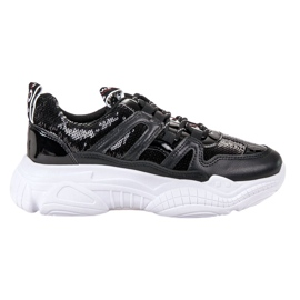 Ax Boxing Sneakers con paillettes nero