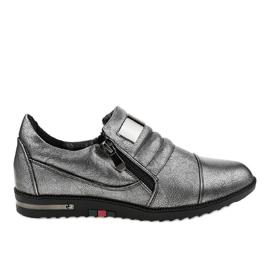 Scarpe grigie con cerniera H034 grigio
