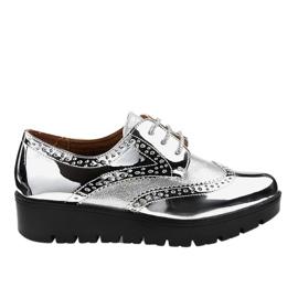 Scarpe stringate argento TL-60 grigio