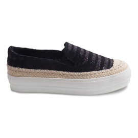 Nero Espadrillas GH001 Sneakers nere