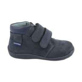 Scarpe da bambino con velcro Mazurek 341 blu scuro marina