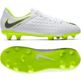 Scarpe da calcio bianche Nike Hypervenom Phantom 3Club Fg Jr AJ4146-107