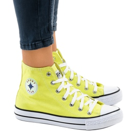 Sneakers alte classiche gialle DTS8224-17