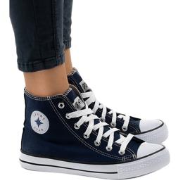 Marina Sneakers alte classiche blu scuro DTS8224-4