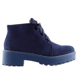Stivali da donna scarpe blu scuro LL219 Blu marina