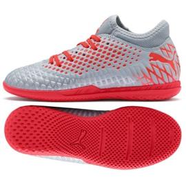 Puma Futrure 4.4 It Jr 105700 01 scarpe grigie grigio grigio / argento