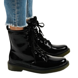 Nero Stivali di vernice nera SD708
