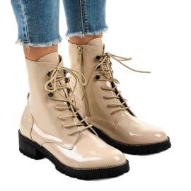 Marrone Stivali alti da donna beige XW37278