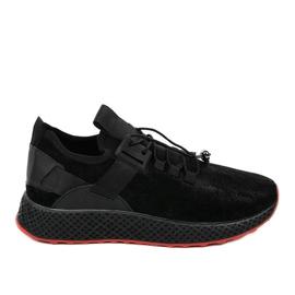 Calzature sportive da uomo nere GM807 nero