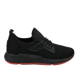 Scarpe sportive stringate WB800 nere nero