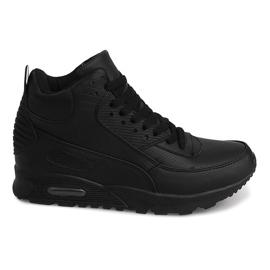 Sneakers alte B3701 nere nero