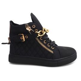 Sneakers alte trapuntate R-35 nere nero