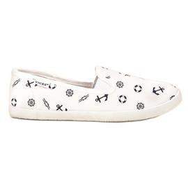Vices VICE pantofole da marinaio bianco