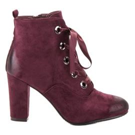 Vinceza Stivali di camoscio bordeaux rosso